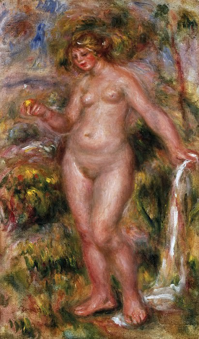 Pierre-Auguste Renoir, French, 1841-1919 -- Bather. Philadelphia Museum of Art