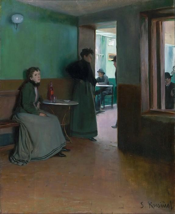 Santiago Rusiñol, Spanish, 1861-1931 -- Interior of a Café. Philadelphia Museum of Art