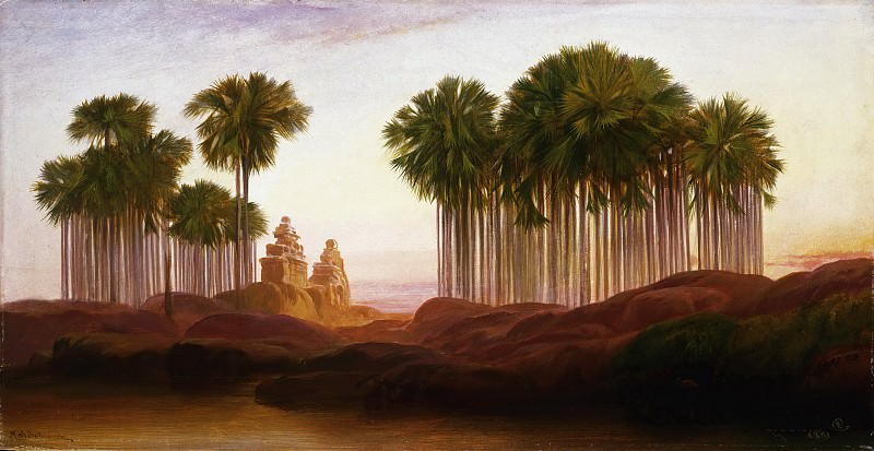 Edward Lear, English, 1812-1888 -- Mahabalipooram. Philadelphia Museum of Art