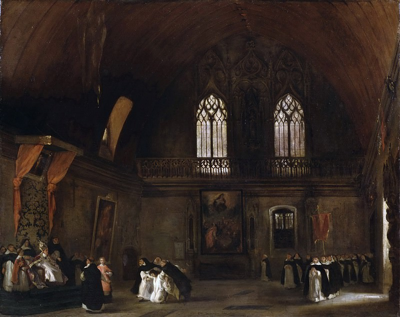 Ferdinand-Victor-Eugène Delacroix, French, 1798-1863 -- Interior of a Dominican Convent in Madrid. Philadelphia Museum of Art