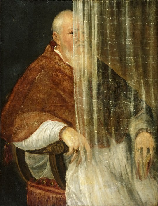 Titian (Tiziano Vecellio), Italian (active Venice), first securely documented 1508, died 1576 -- Portrait of Cardinal Filippo Archinto. Philadelphia Museum of Art