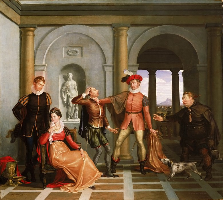 Washington Allston, American, 1779-1843 -- Scene from «The Taming of the Shrew». Philadelphia Museum of Art