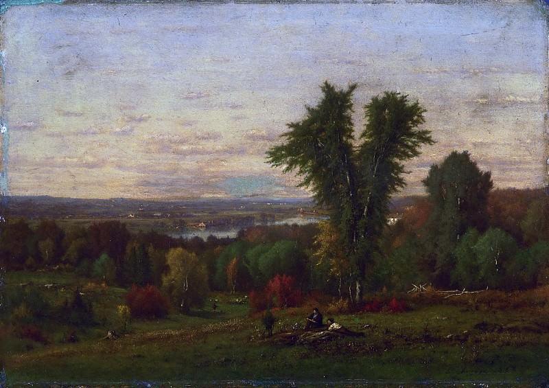 George Inness, American, 1825-1894 -- Landscape near Medfield, Massachusetts. Philadelphia Museum of Art