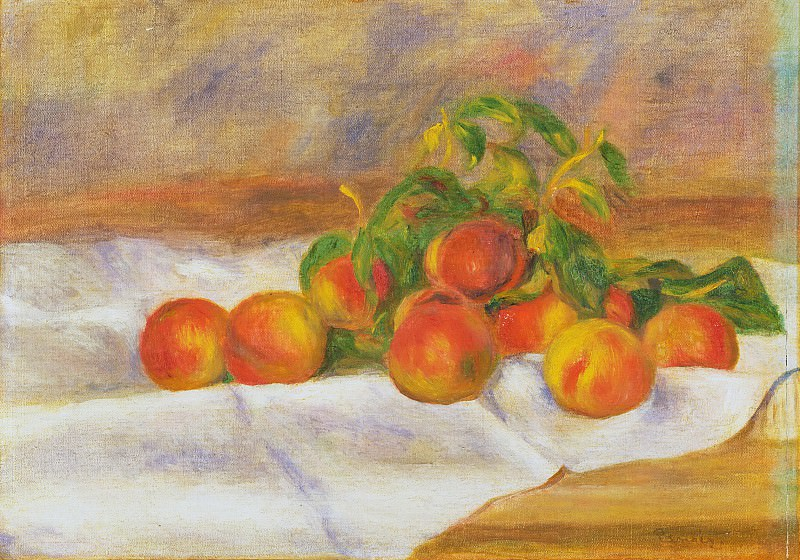Pierre-Auguste Renoir, French, 1841-1919 -- Peaches. Philadelphia Museum of Art