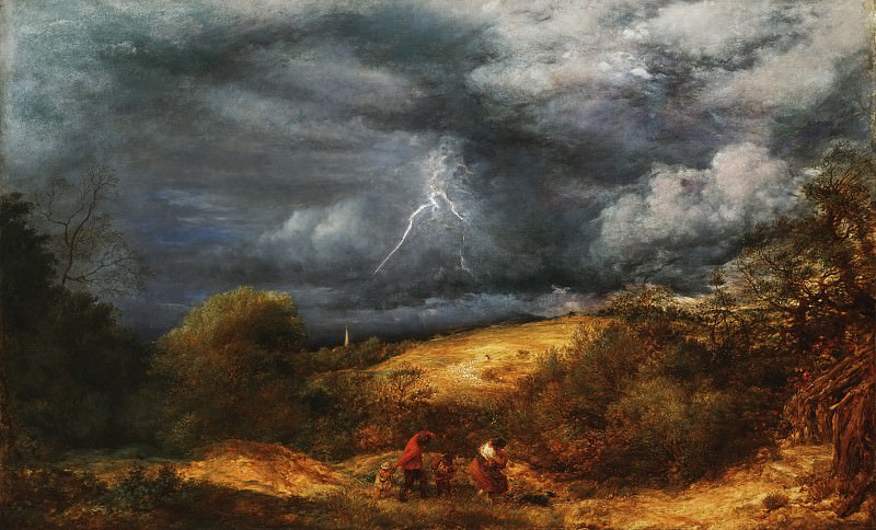 John Linnell, English, 1792-1882 -- The Storm (The Refuge). Philadelphia Museum of Art