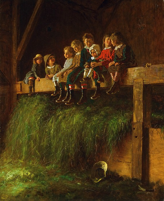 Eastman Johnson, American, 1824-1906 -- Barn Swallows. Philadelphia Museum of Art