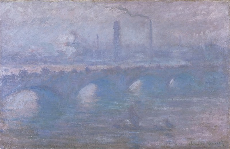 Моне, Клод-Оскар (1840 Париж - 1926 Живерни) - Мост Ватерло, утренний туман. Музей искусств Филадельфии