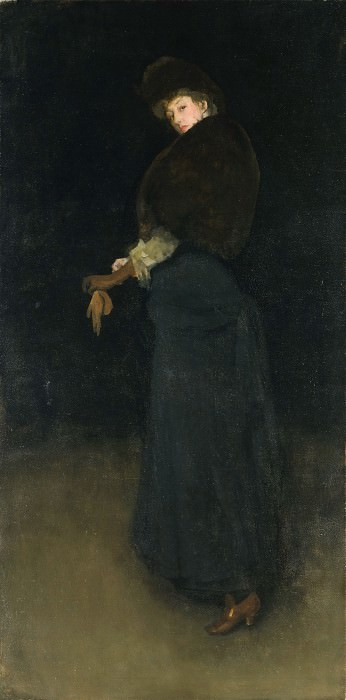 James Abbott McNeill Whistler, American (active England), 1834-1903 -- The Lady in the Yellow Buskin. Philadelphia Museum of Art