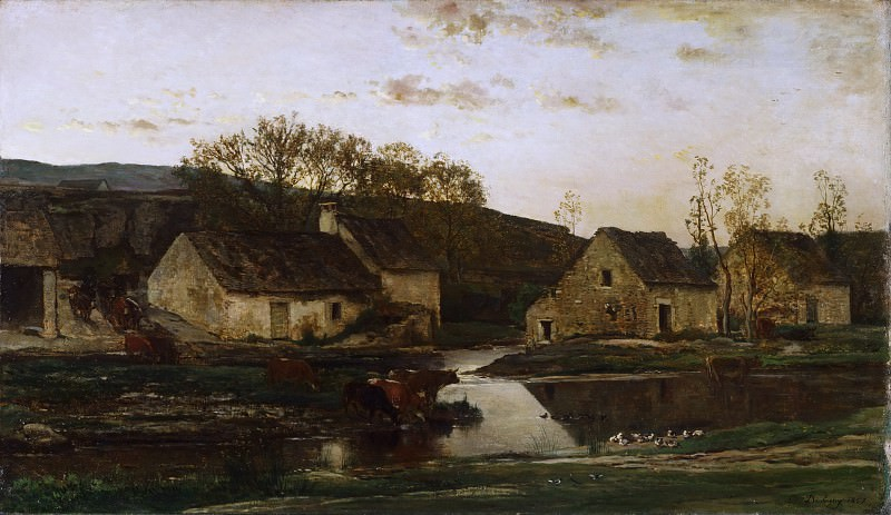 Charles-François Daubigny, French, 1817-1878 -- Mill. Philadelphia Museum of Art
