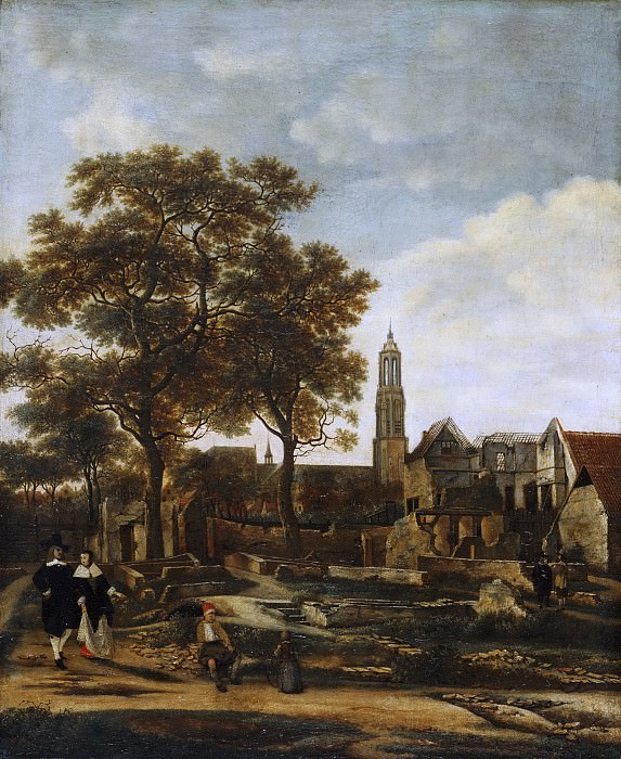 Daniel Vosmaer, Dutch (active Delft), documented 1650 -- View of Delft after the Explosion of 1654. Philadelphia Museum of Art