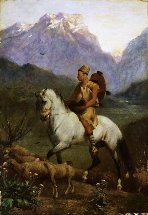 Фромантен, Эжен (Ла Рошель 1820-1876) - Арабский пастух (высокогорное плато в Кабилии). Музей искусств Филадельфии