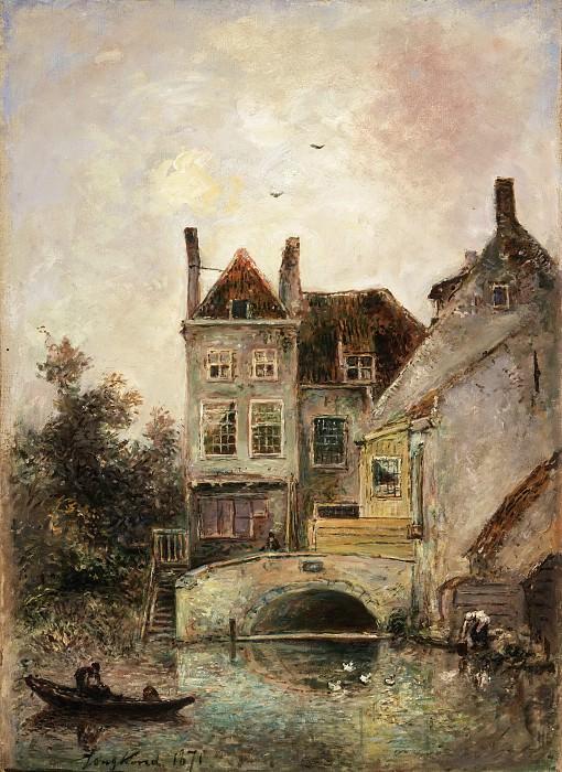 Johan Barthold Jongkind, Dutch (active The Hague, Paris, and Rotterdam), 1819-1891 -- The Artist's House, Maassluis. Philadelphia Museum of Art