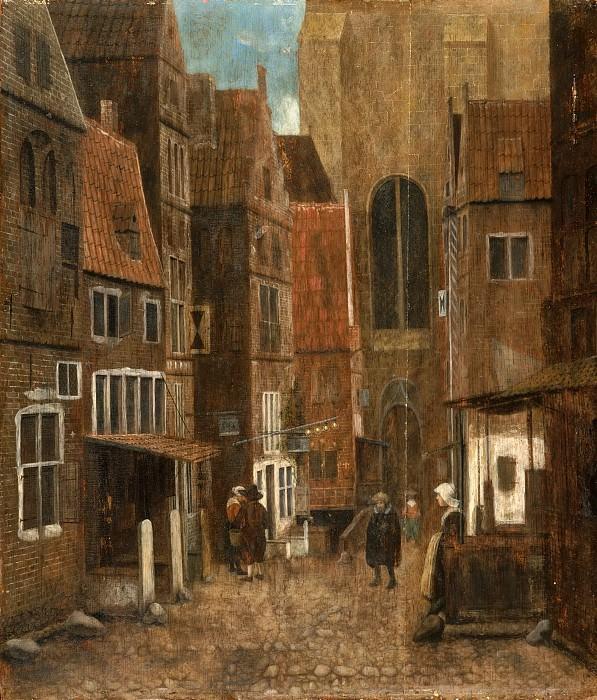 Врель, Якоб (работал в Делфте и Харлеме в 1654-62) -- Улочка. Музей искусств Филадельфии