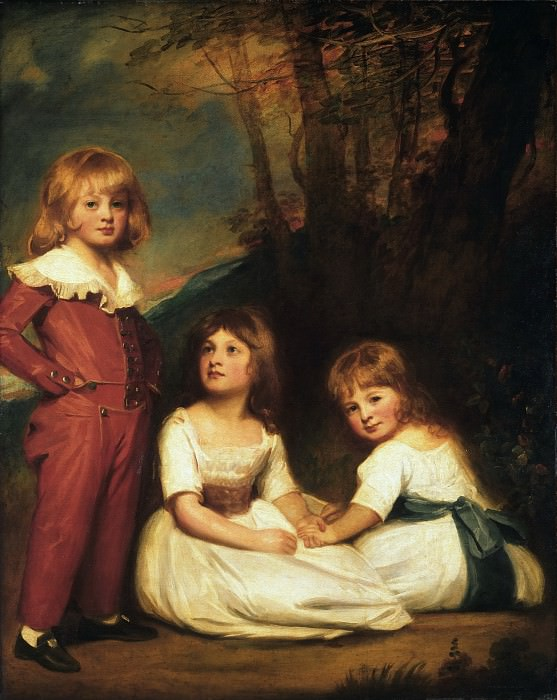 George Romney, English, 1734-1802 -- Portrait of Mr. Adye's Children. Philadelphia Museum of Art