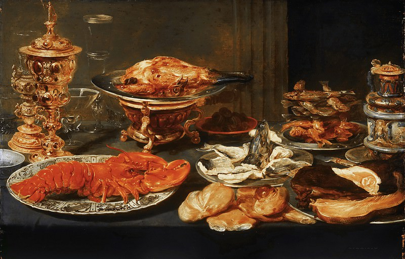 Attributed to Frans Snyders, Flemish (active Antwerp), 1579-1657 -- Still Life with a Lobster. Philadelphia Museum of Art