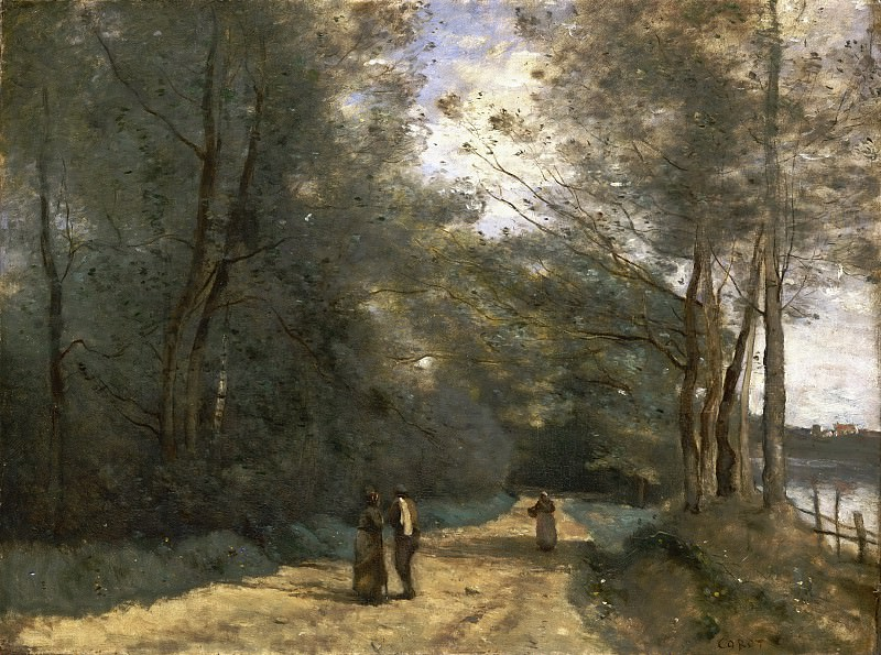 Jean-Baptiste-Camille Corot, French, 1796-1875 -- Wooded Path near Ville d'Avray. Philadelphia Museum of Art