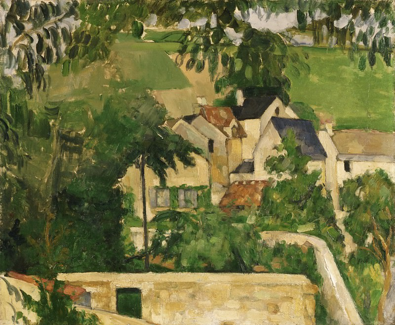Paul Cézanne, French, 1839-1906 -- Quartier Four, Auvers-sur-Oise (Landscape, Auvers). Philadelphia Museum of Art