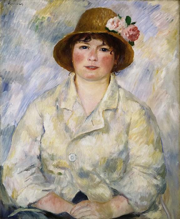 Pierre-Auguste Renoir, French, 1841-1919 -- Portrait of Madame Renoir. Philadelphia Museum of Art