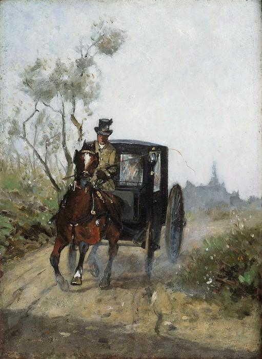 Тулуз-Лотрек, Анри (1864-1901) -- Экипаж. Музей искусств Филадельфии