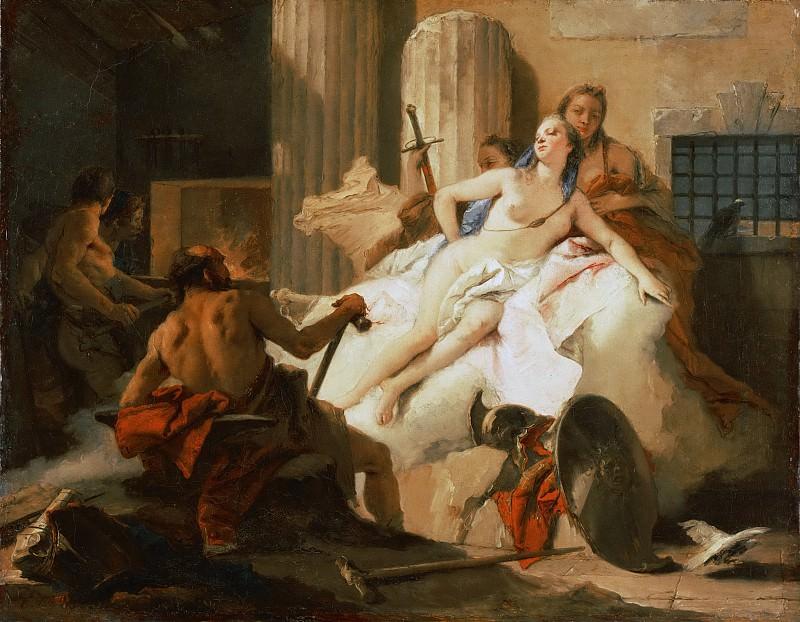 Набросок к картине «Венера и Вулкан». Джованни Баттиста Тьеполо