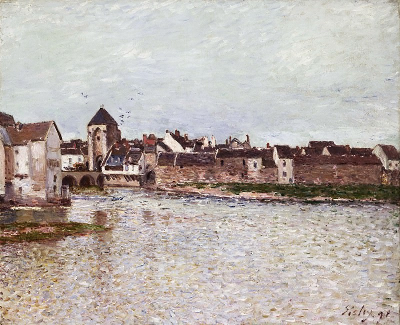 Alfred Sisley, French, 1839-1899 -- Bridge at Moret-sur-Loing. Philadelphia Museum of Art