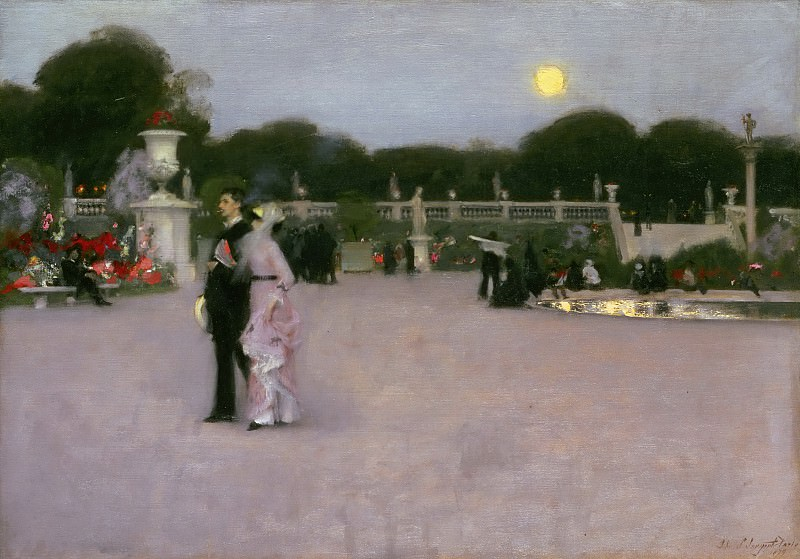 John Singer Sargent, American (active London, Florence, and Paris), 1856-1925 -- In the Luxembourg Gardens. Philadelphia Museum of Art