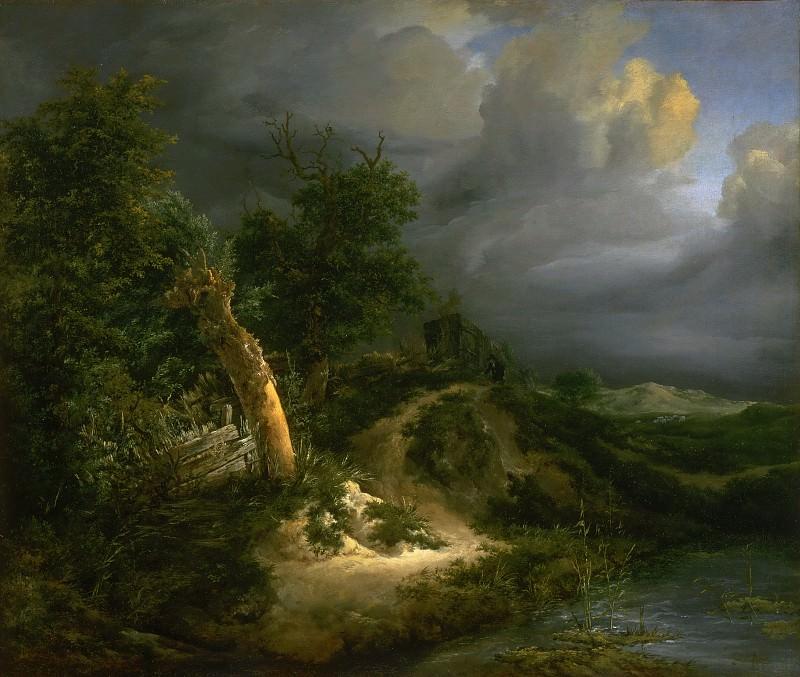 Jacob Isaacksz. van Ruisdael, Dutch (active Haarlem and Amsterdam), 1628/29-1682 -- Storm on the Dunes. Philadelphia Museum of Art