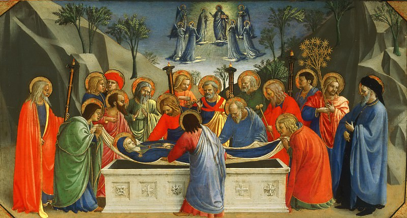 Fra Angelico (Guido di Pietro), also called Fra Giovanni da Fiesole, Italian (active Florence and Rome), first securely documented by 1417, died 1455 -- The Dormition of the Virgin. Philadelphia Museum of Art