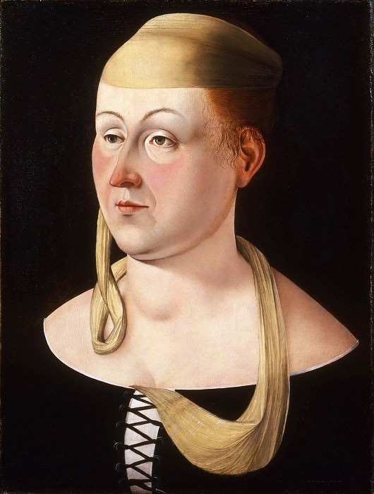 Attributed to Jacometto Veneziano, Italian (active Venice) active c. 1472, died c. 1497 -- Portrait of a Lady. Philadelphia Museum of Art