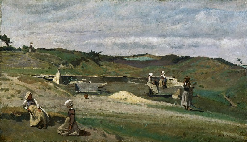 Jean-Baptiste-Camille Corot, French, 1796-1875 -- Wall, Côtes-du-Nord, Brittany. Philadelphia Museum of Art