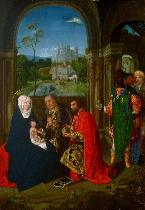 Master of Hoogstraeten, Netherlandish (active Antwerp), active c. 1485-c. 1520 -- The Adoration of the Magi. Philadelphia Museum of Art