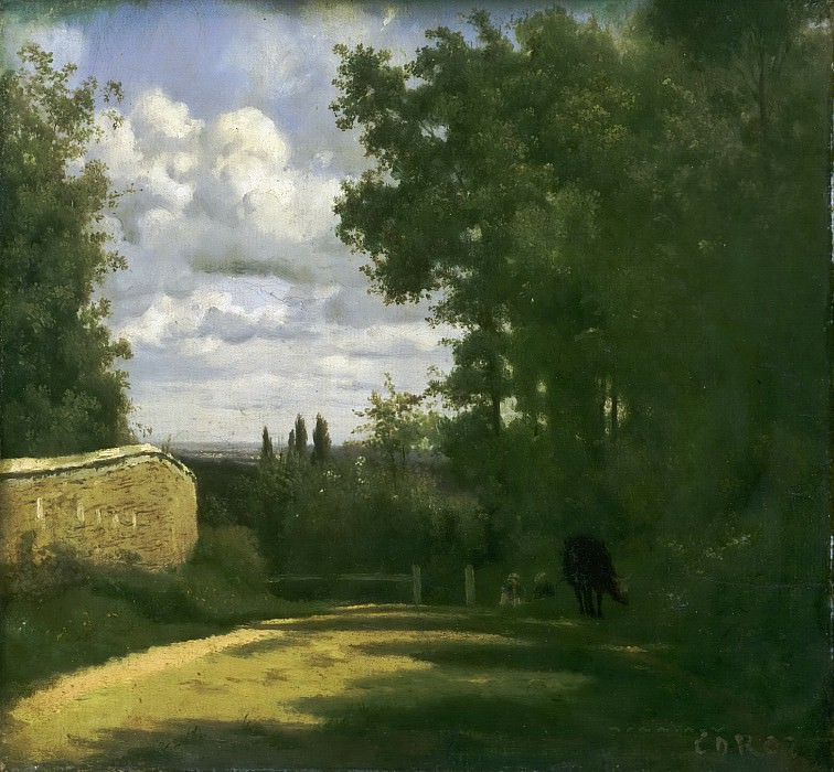 Jean-Baptiste-Camille Corot, French, 1796-1875 -- Ville d'Avray. Philadelphia Museum of Art