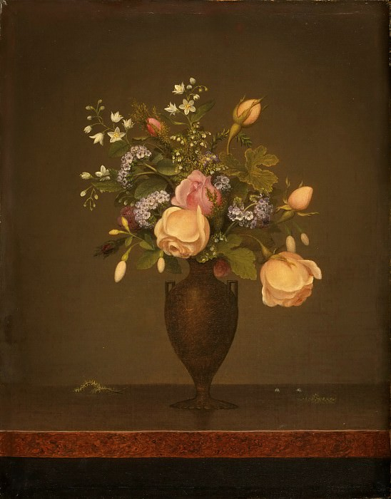 Martin Johnson Heade, American, 1819-1904 -- Still Life with Flowers. Philadelphia Museum of Art