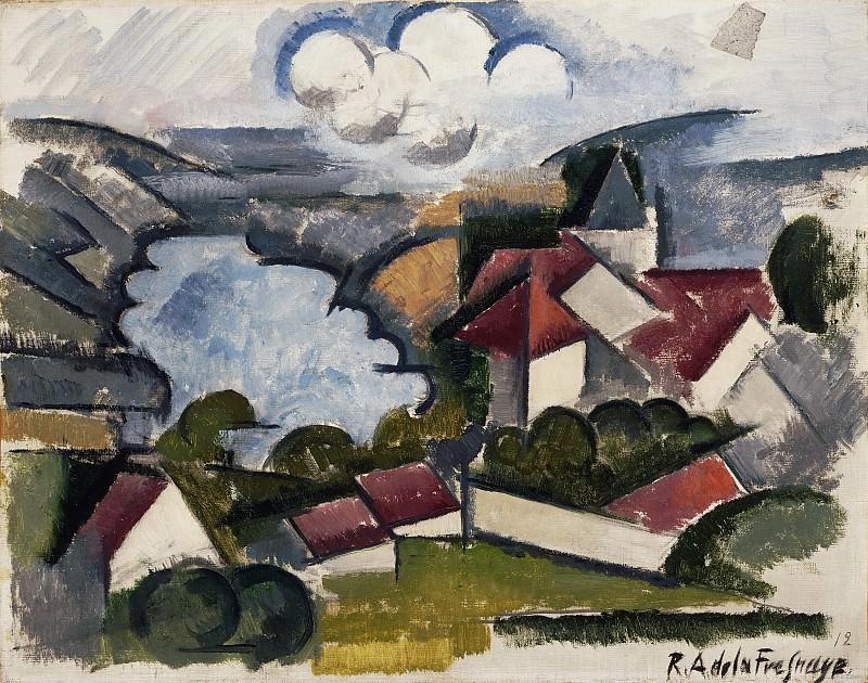 Roger de La Fresnaye, French, 1885-1925 -- Landscape. Philadelphia Museum of Art