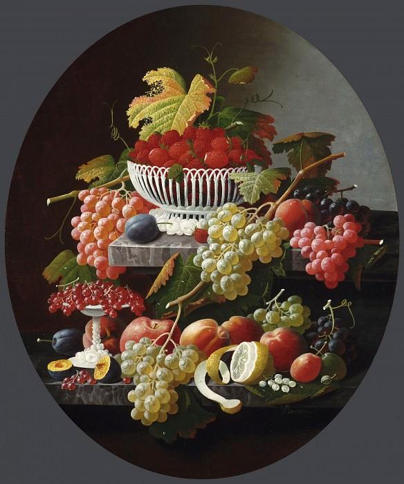 Розен, Северин (1816 - ок1872) -- Натюрморт с фруктами. Музей искусств Филадельфии