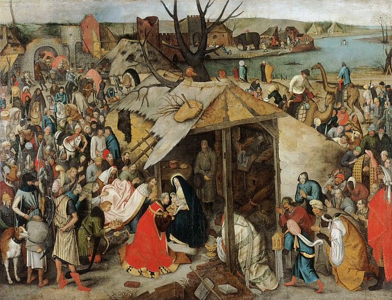 Pieter Brueghel the Younger, Flemish (active Antwerp), 1564-1637/38 -- The Adoration of the Magi. Philadelphia Museum of Art