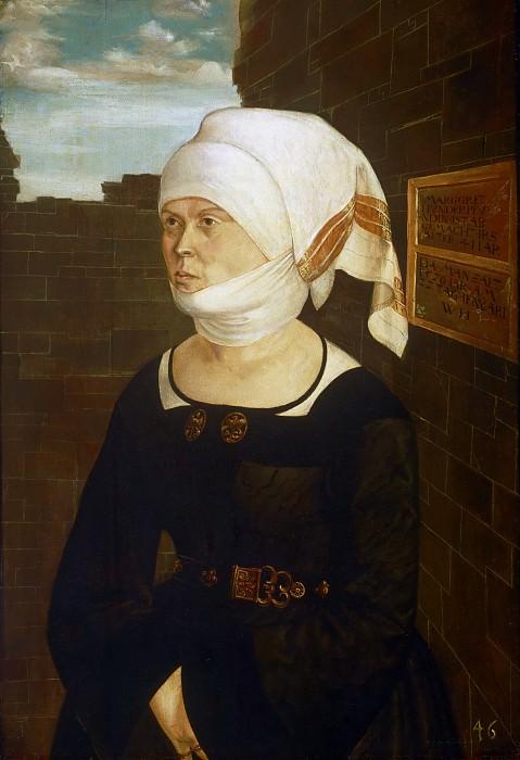 Wolf Huber, German (active Passau), c. 1485-1553 -- Portrait of Margaret Hundertpfundt. Philadelphia Museum of Art
