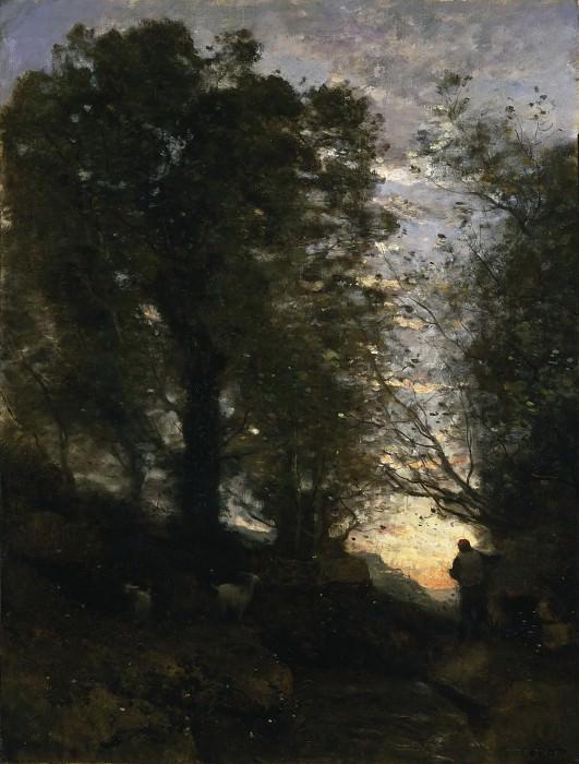 Коро, Жан-Батист-Камиль (Париж 1796-1875) - Козопас в Терни. Музей искусств Филадельфии