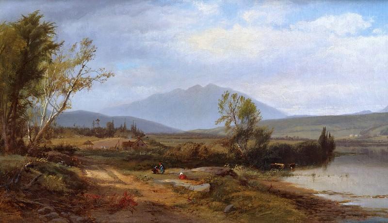 William M. Hart, American, 1823-1894 -- River Landscape with Figures. Philadelphia Museum of Art