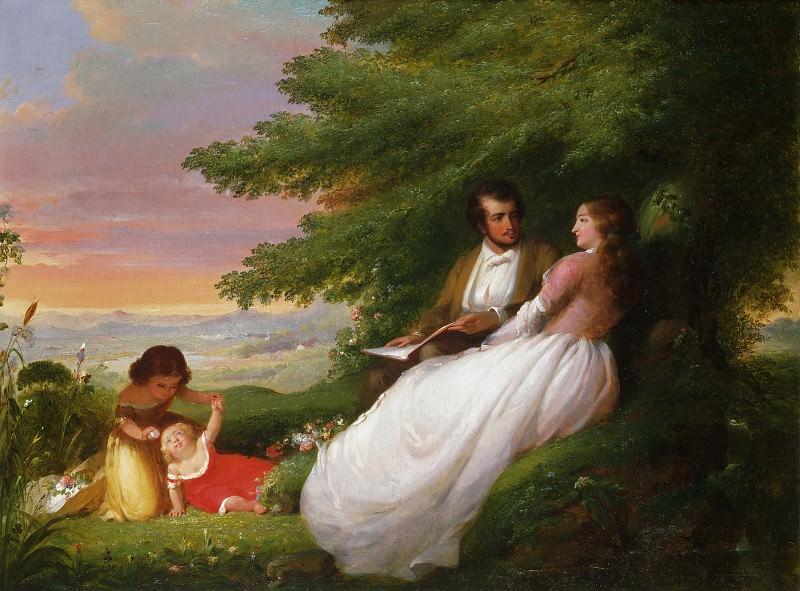 Уиннер, Уильям (1819-1883) -- Семейная идиллия. Музей искусств Филадельфии