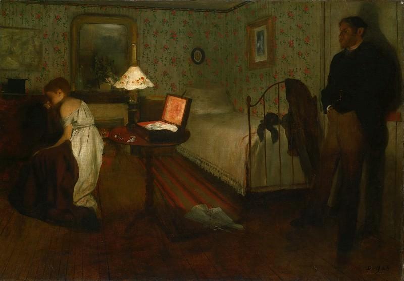Hilaire-Germain-Edgar Degas, French, 1834-1917 -- Interior. Philadelphia Museum of Art