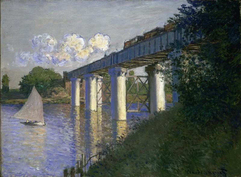 Моне, Клод-Оскар (1840 Париж - 1926 Живерни) - Железнодорожный мост в Аржантее. Музей искусств Филадельфии