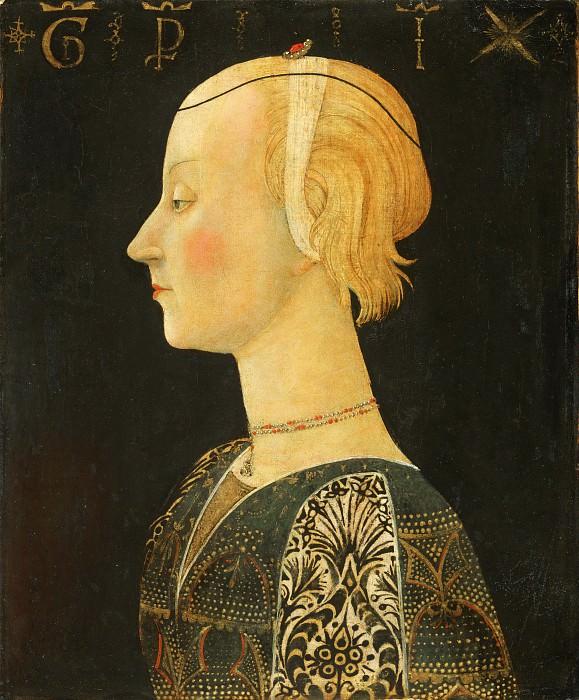 Скеджа (Джованни ди сер Джованни) (1406 Сан Джованни Вальдарно - 1486 Флоренция) -- Портрет дамы. Музей искусств Филадельфии