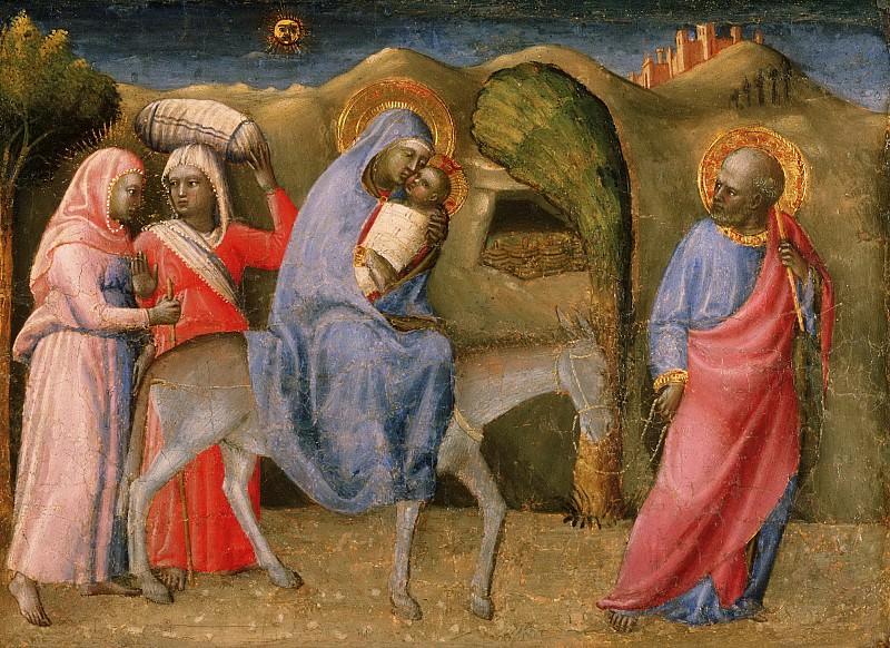Paolo Schiavo (Paolo di Stefano Badaloni), Italian (active Florence and environs), 1397-1478 -- The Flight into Egypt. Philadelphia Museum of Art