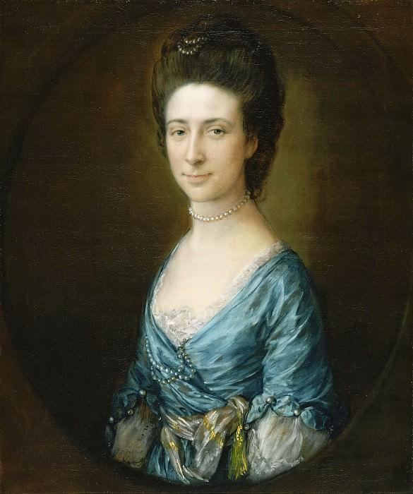 Гейнсборо, Томас (1727 Садбери - 1788 Лондон) - Портрет миссис Клемент Тадуэй. Музей искусств Филадельфии