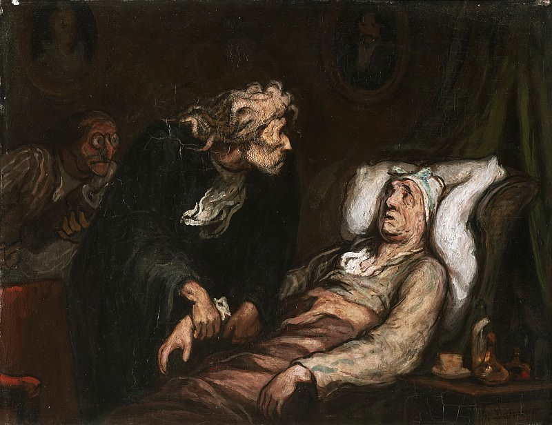 Honoré Daumier, French, 1808-1879 -- The Imaginary Illness. Philadelphia Museum of Art