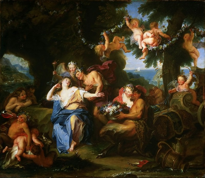 Antoine Coypel, French, 1661-1722 -- Bacchus and Ariadne on the Isle of Naxos. Philadelphia Museum of Art