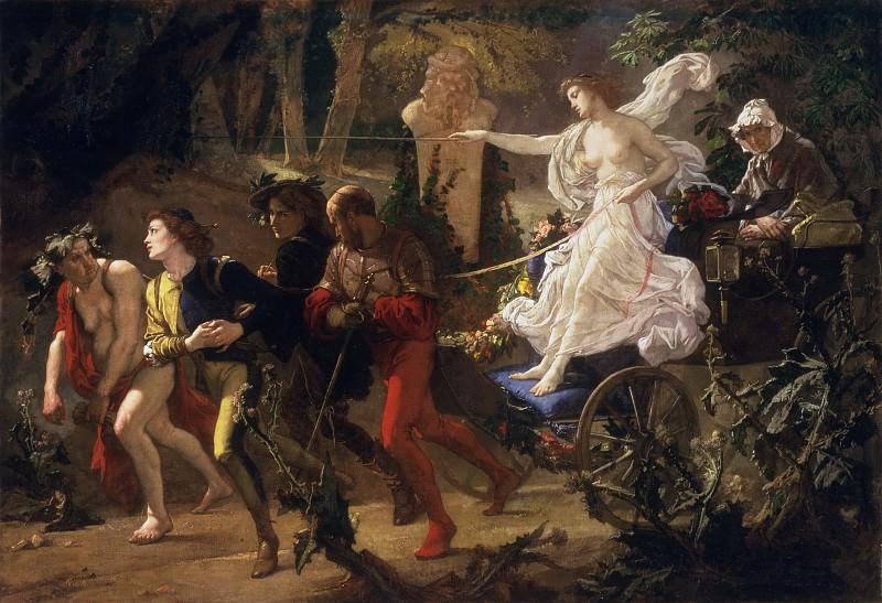 Кутюр, Тома (1815 Санлис - 1879 Виллье-ле-Бель) - Тернистый путь. Музей искусств Филадельфии