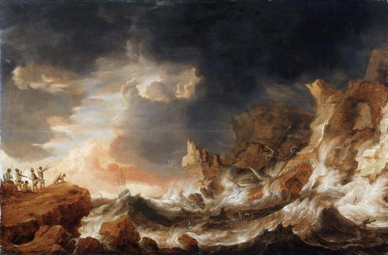 Bonaventura Peeters, Flemish (active Antwerp), 1614-1652 -- Shipwreck on a Rocky Coast. Philadelphia Museum of Art