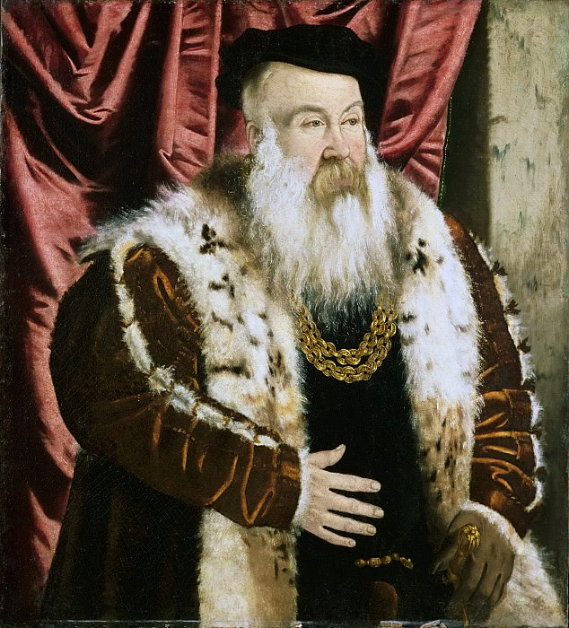 Attributed to Hans Mielich, German (active Munich), 1516-1573 -- Portrait of a Nobleman. Philadelphia Museum of Art